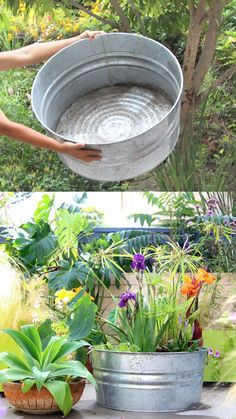 DIY Solar Fountain in 1 Hour! {with Pond Water Plants} Easy DIY Solar Fountain in 1 Hour! {with Pond Water Plants} - A Piece Of RainbowEasy DIY Solar Fountain in 1 Hour! {with Pond Water Plants} - A Piece Of Rainbow Garden Fountains Outdoor, Patio Fountain, Diy Water Fountain, Water Fountains, Fountain House, Fountain Ideas, Outdoor Gardens, Container Water Gardens, Container Gardening