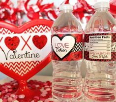Love Potion Valentines Day Water Bottle Labels