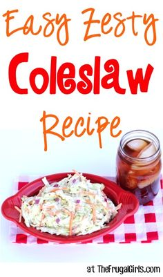 Easy Zesty Coleslaw Salad Recipe! ~ at http://TheFrugalGirls.com ~ this delicious coleslaw (with a dressing full of zing) is perfect for summer parties, 4th of July picnics, and to top a delicious sandwich! #recipes #thefrugalgirls