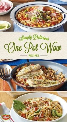 """The wow in these one-pot wonders is that they're easy on effort and big on taste. From simply delicious chicken to fish and more, they're perfect for busy weeknights and weekends. Find your new favorite """"done-and-yum"""" recipes."""