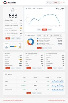 Web Traffic and Sales data dashboard by Lancaster