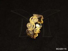 BG-628-115 || OVAL TWISTED LASER CUT BANGLES
