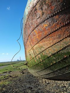 The hull of the steam tug Waterloo on Sharps Green Bay