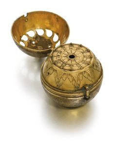 A gilt metal spherical watch case first half of the 16th century