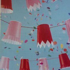 Paper cup garland