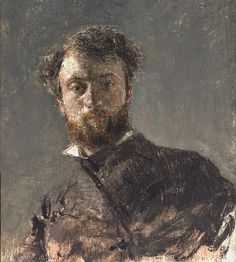Self-Portrait c. 1878 Antonio Mancini, Italian, 1852 - 1930. Philadelphia Museum of Art
