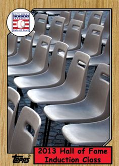 I decided to make a fantasy Baseball card in honor of the BBWAA recent vote to not elect any new members into the Hall of Fame.