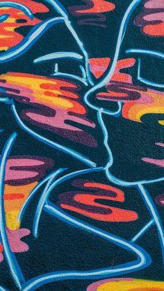 Desktop Wallpaper kiss graffiti art hd for pc & mac, laptop, tablet, mobile phone Trippy Wallpaper, Retro Wallpaper, Aesthetic Iphone Wallpaper, Aesthetic Wallpapers, Photo Wall Collage, Picture Wall, Collage Art, Graffiti Art, Art Hippie