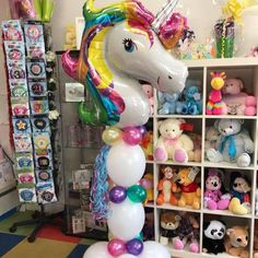 Una our unicorn column with balloon tails