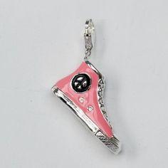 Charming Pink Baseball Boot Pendant