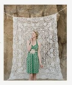 DIY Photography Backdrops - Lace Tablecloth from Goodwill