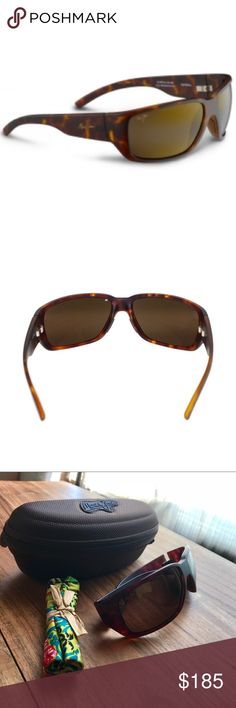 Maui Jim Unisex Seawall Matte/Tortoise Sunglasses PolarizedPlus2 Lens. Sturdy protective nylon full-frame offers protection for the brightest days. Non-Rx Unisex Sunglasses: High-grade injected nylon, lightweight and tough with superior fit and comfort. Matte finish. **Were Worn 2x excellent condition.**Includes case & cleaning cloth/pouch. Hinge: Anti-corrosive spring provides flexibility offering a secure, comfortable fit for various face shapes and sizes. Fixed saddle-style design…
