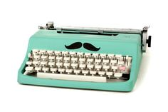 Customised Typewriter in Peppermint Green by ClaireLaSecretaire, $350.00