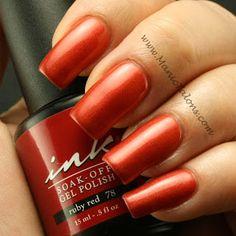 Manic Talons: Ink Ruby Red Soak Off Gel Polish