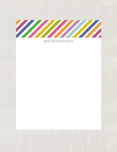 Striped Note Pad