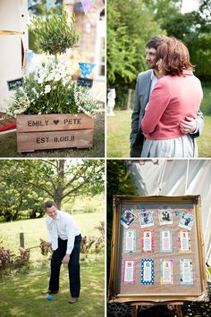 Hessian backed table plan in old frame