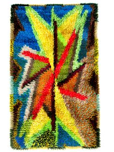 Vintage Scandinavian Rya carpet 1950's