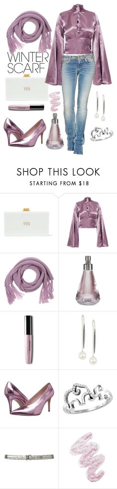 """""""That color tho..."""" by loves-elephants ❤ liked on Polyvore featuring Edie Parker, Beaufille, Essentiel, Nomenclature, Yoko London, Chinese Laundry, Rochas, Lime Crime and winterscarf"""