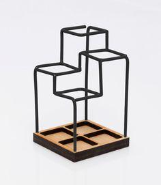 Sketch Desk Tidy by Block is a pen holder/desk caddy. http://design-milk.com/3d-desk-organizer-looks-like-sketch/