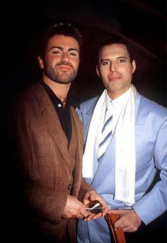 George Michael and Freddy Mercury