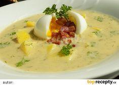 Cuketová polévka s vejcem a slaninou recept - TopRecepty.cz 20 Min, Bon Appetit, Cheeseburger Chowder, Pork, Food And Drink, Vegetarian, Yummy Food, Baking, Dinner