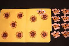 Busy Bees Subtraction Printable File Folder Game 2nd 3rd Grade Homeschool Daycare Montessori Gifted Children Child Subtract Math Time Filler by MyFileFolderGames on Etsy