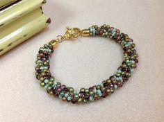 Bracelet Kumihimo Kumihimo perles Bracelet par JewelryCharmers, $23.00