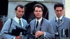 Harold Ramis (right) found fame in 1984's Ghostbusters, which he co-wrote with Dan Aykroyd (center).