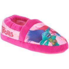 Girls' Trolls Slippers, Pink