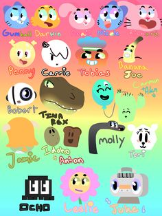 The Amazing World Of Gumball Characters Names Google Search The