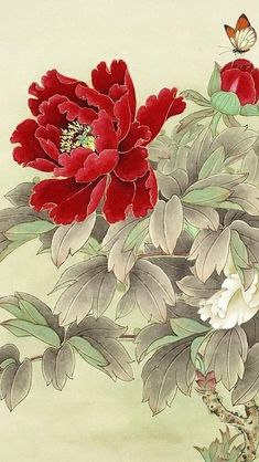 Lock Screen Iphone Wallpapers Flower Wallpaper 49 Ideas For 2019 Japanese Painting, Chinese Painting, Chinese Art, Japanese Art, Asian Flowers, Chinese Flowers, Japanese Flowers, Art Floral, Japanese Flower Tattoo