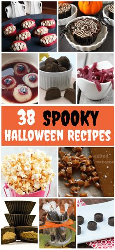 You don't have to settle for unhealthy halloween treats. With these 38 Spooky Halloween Treat Ideas you will never run out of Halloween Treats!