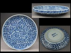 古伊万里総蛸唐草丸皿(江戸中期) Ceramic Tableware, Porcelain Ceramics, Ceramic Art, White Ceramics, Japanese Porcelain, Japanese Pottery, White Porcelain, Japanese Table, Japanese Plates