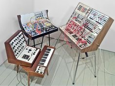 Vintage and modern classic synthesizers from around the world, and from just downstairs...