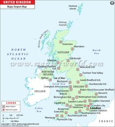 uk airports map