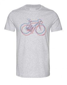 James Bike on Bike T-Shirt Grau Melange aus Biobaumwolle Bike, Mens Tops, Shopping, Fashion, Vegan Fashion, Cotton, Bicycle Kick, Moda, La Mode