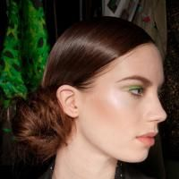 Fall's prettiest hair buns: Talbot Runhof