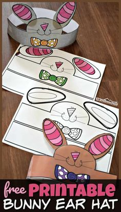 FREE Printable Bunny Ear Hat - this LOW PREP Easter Craft for Preschoolers make a fun spring activity for toddler, preschool, kindergarten age kids and more! # easter activities for kids Printable Bunny Ear Hat Easter Crafts For Toddlers, Toddler Crafts, Preschool Crafts, Toddler Activities, Toddler Preschool, Spring Craft Preschool, Spring Crafts For Preschoolers, Easter Craft Activities, Spring Activities