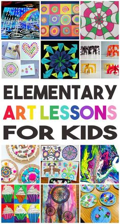 36 Elementary Art Lessons for Kids - one for every week of the school year! Perfect for homeschool families, teachers, scout leaders, and parents!