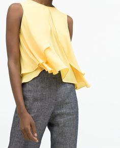 Image 3 of ROUND NECK LAYERED TOP from Zara