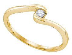 10K Yellow Gold 0.07 Ctw Diamond Fashion Ring 1.13g: Ring