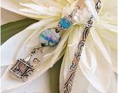 Marque pages romantique pastel Oiseau bleu du printemps : Marque-pages par lacaudry-creation