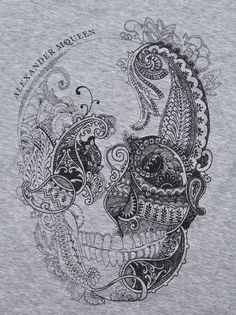 Skull..i know what his next embroidery project will look like...