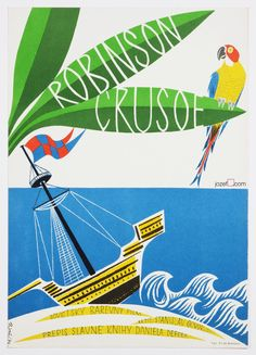 Robinson Crusoe - Kids poster illustrated by Richter