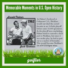Throwback US Open Golf Moments:Jack Nicklaus vs Arnold Palmer #Golf #Facts