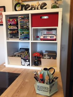 "Our April Studio Showcase winner is a great example of how organizing your space is a process that takes time. Kathy had been paper crafting for years and had made many attempts to be organized. ""I was never happy with my results"" she says. In September of 2016 she started a craft room makeover that took 7 months to complete. Kathy began with a trip to IKEA® and Stamp-n-Storage on the phone to make sure she was getting the right shelving units. She was on a mission to get organized!..."