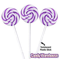 Just found Swipple Pops Petite Swirly Ripple Lollipops - Purple Grape: 48-Piece Box @CandyWarehouse, Thanks for the #CandyAssist!