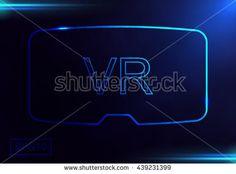 Virtual reality glasses. VR technology. Vector illustration.