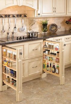 slide out kitchen cabinet organizers Waypoint Slide out trash