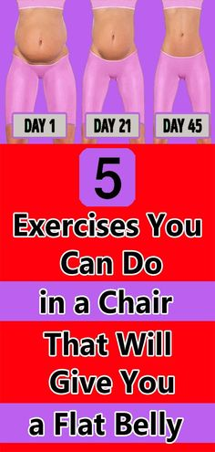 5 EXERCISES YOU CAN DO IN A CHAIR THAT WILL GIVE YOU A FLAT BELLY Health And Fitness Tips, Health And Beauty, Health And Wellness, Healthy Skin Care, Healthy Tips, Health Remedies, Herbal Remedies, Natural Remedies, Senior Fitness